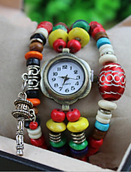 Werolex Buddhist Prayer Beads Wheelie Chain Wooden Bead  Watch WB0513060