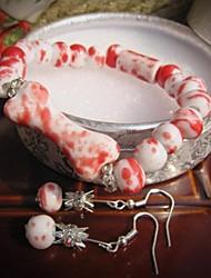 Moda óssea Jogo da jóia cerâmica (Incluindo pulseira, brinco)