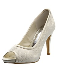 Gorgeous Lace And Satin Stiletto Heel Pumps Wedding Shoes(More Colors)