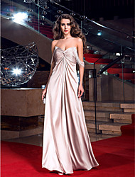 Sheath / Column Sweetheart Floor Length Stretch Satin Prom Dress with Crystal by TS Couture®