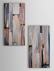 Hand Painted Oil Painting Abstract Painting For Lobby  with Stretched Frame Set of 2