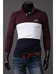 Debe Men's Color Block Contrast Color  T-Shirt