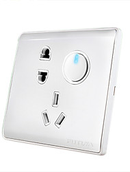 One Button Single Control Switch and Socket Panel with LED Indicator Light Switch