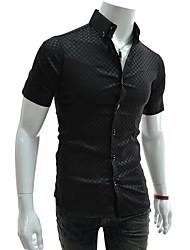 Controllare moda manica corta maglietta degli uomini di Urun (nero)