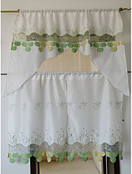 Country Fresh Style Floral Kitchen Curtain