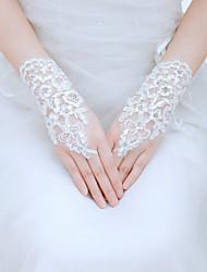 Wrist Length Fingerless Glove Tulle Bridal Gloves/Party/ Evening Gloves