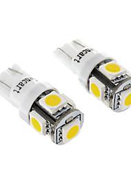 Ampoule 5SMD 5050LED White Light pour la moto de frein / Tournage Signal Lamps (1.2W ,2-Pack, DC12-16V)