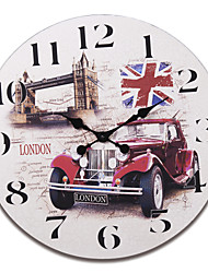 "23""H London Bridge Style Retro Wood Wall Clock"