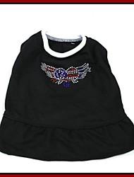 T-shirt de modèle frais strass pour Animaux Chiens