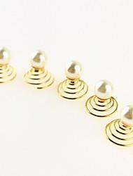 Arbeiten Sie Perlen Spiral-Haar-Riegel