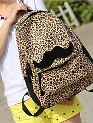 Women's Lovely Leopard Print Canvas Backpacks