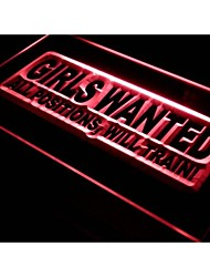 Girls Wanted All Positions Bar Neon Light Sign