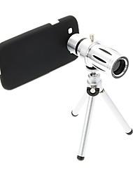 Zoom 12X Teleobjetivo metal Celular lente con el trípode para Samsung S3