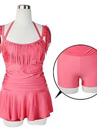 Marca Haibote Sexy Hot Swimwear Swimsuit de uma peça com borlas em Top Quality