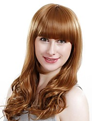 Capless Long Golden Blonde Wavy Synthetic Wigs