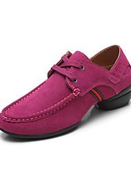 Mujeres Suede Alta cordones de baile de salón modernos zapatos de baile de las zapatillas de deporte (más colores)