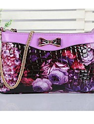 Fashion Garden Flowers  Women's  Genuine Leather Shoulder Bag/Crossbody Bag  Day Clutch Bags