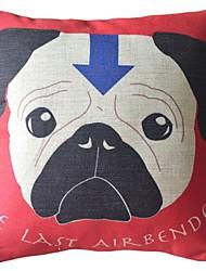 The Dog Dog Big Portrait Decorative Pillow Cover
