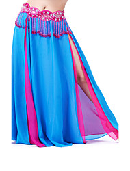 Dancewear Chiffon With Split Front Belly Dance Skirt for Ladies (More Colors)