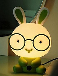 Table Lamps Cartoon Rabbit Green Plastic Acrylic