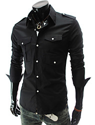 Herren Einreiher Fashion Shirt