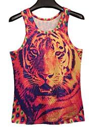 Tiger Print Homme 3D I-forme Vest