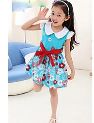 Girl's Cotton Dress , Summer Sleeveless