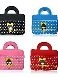 Universal dos desenhos animados de 10 polegadas computador portátil Bolsa Messenger Bag bonito