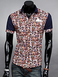 Z & S Men Retro Flower Montage Shirt