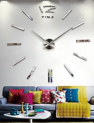 """Reloj de pared adhesivo acrílico espejo 3d 40 """"h bricolaje"""