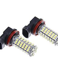 LED H11 102SMD lumière blanche pour l'ampoule de lampe (12V, 2pcs)