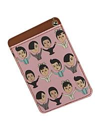 Cartooon Shake Hands PU Leather Card Case