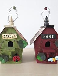 Wooden Decorative Bird House Shape Piggy Bank