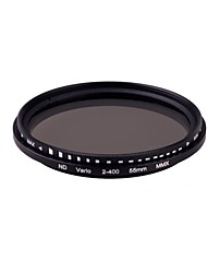 55mm Pro Fader mince variable neutre Filtre Densité de ND réglable de ND2 au ND400 ND2-ND400