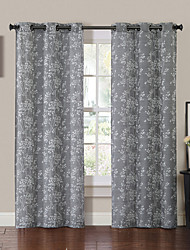 One Panel  Retro Grommet Top Curtain Drape