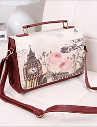 Moda Donna Rose Print Handbag