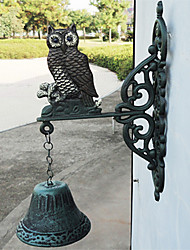 European and American Retro Rustic's Owl Of Wrought Iron Hand-type Door Bell