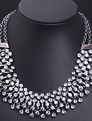 Women's Statement Necklaces Crystal Simulated Diamond Alloy Fashion Statement Jewelry Luxury Jewelry Jewelry