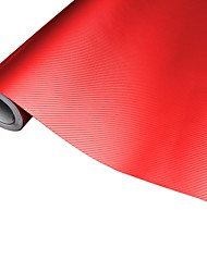 Merdia Decoratie 3D PVC Carbon Fiber Film Wrap Sticker voor auto-Rode (50 x 20cm)