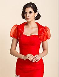 Short Sleeve Tulle Wedding/Special Occasion Wraps Bolero Shrug