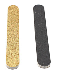 2-Pieces Light Gold+Black Emery Nail Art Files