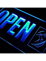OPEN Beauty Salon Display Lady Neon Light Sign