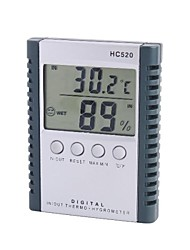 "HC520 2,5 ""-LCD-Indoor Outdoor Digital-Temperatur-Feuchtigkeits-Messinstrument mit Sonde"