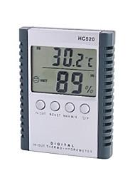 "HC520 LCD de 2,5 ""interno Temperatura Outdoor Digital medidor de umidade com sonda"