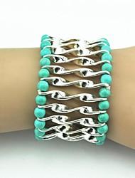 Antique Silver bracelet élastique des femmes de cru (rose) (1pc)