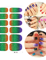 28PCS Glitter Gradient Ramp Nail Art Stickers M Series NO.118