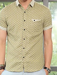 Men's Spread Casual Short Sleeve Shirt (Random Pattern)