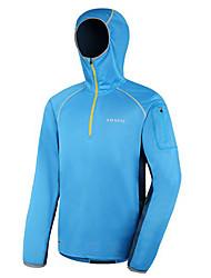 AMADIS Unisex Azul + Amarillo poliéster de manga corta Anti-UV Pesca con capucha