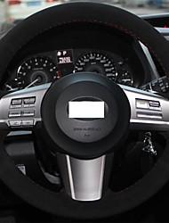 Cubierta del volante Xuji ™ Negro Suede para Subaru Outback 2010 2011 2012