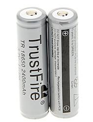 TrustFire 2400mAh 18650 (2 peças) com proteção de sobrecarga